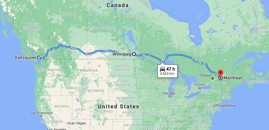 moving from vancouver to montreal average cost