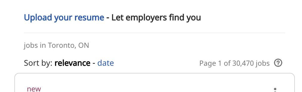 getting a job in toronto